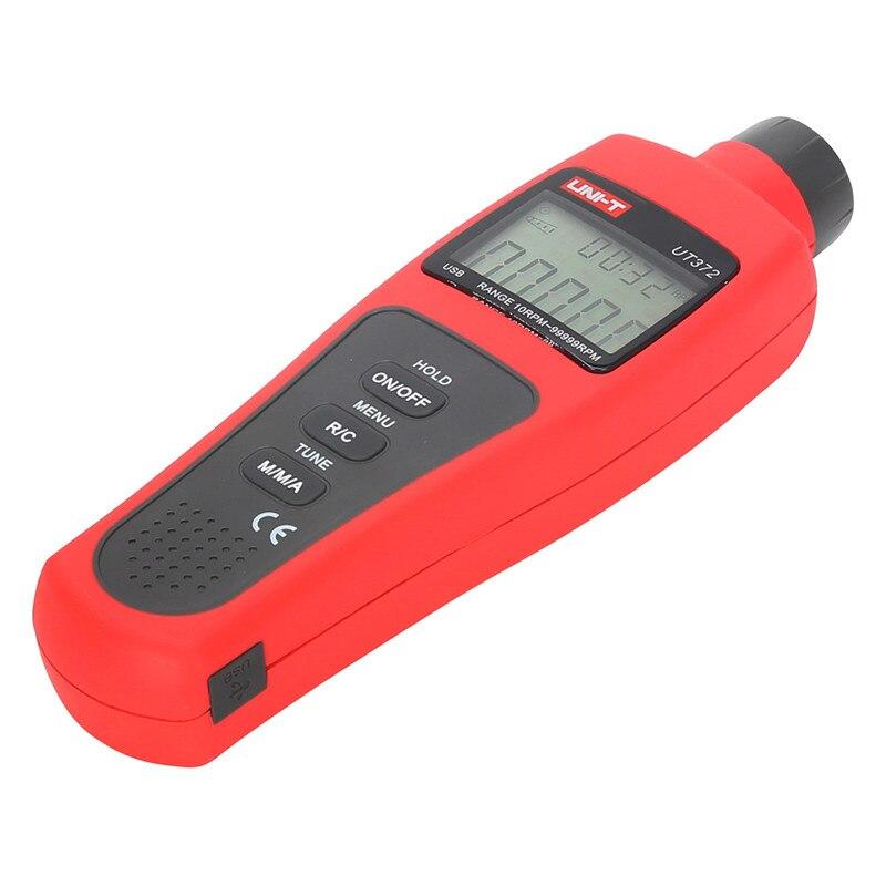Gros UNI-T moniteur de vitesse UT372 tachymètres numériques sans Contact 10RPM-99999RPMn affichage LCD Instruments de mesure de vitesse