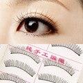Beleza Moda de Nova Cruz Preta Cílios Falsos Grosso Macio Longo Maquiagem Dos Olhos Lash Extensão Natural Makeup Styling Tools 10 Pares/set