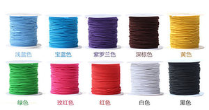 Image 3 - 100 yards 2mm Round Elastic Cord Nylon Coated,Stretch Cord Beading String,Fit For Bracelet & Necklace,DIY Accessory