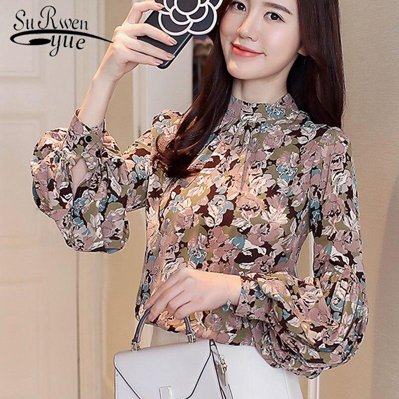 women   blouse   fashion 2019 spring chiffon   blouse     shirt   long sleeve women   shirts   causal women tops womens tops and   blouses   2078 50
