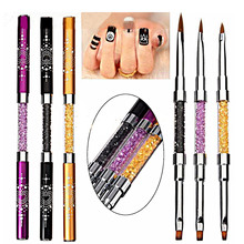 volodia 1 Piece Professiional Double Side UV GEL Brush + Acrylic Brush Head Nail Art Design Brushes Acrylic Gel Pen With Cap