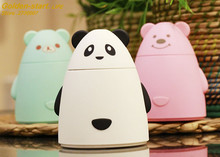 Cartoon Bear USB Ultrasonic Air Humidifier Mini Essential Oil Aroma Diffuser Aromatherapy Home Office SPA Mist Maker
