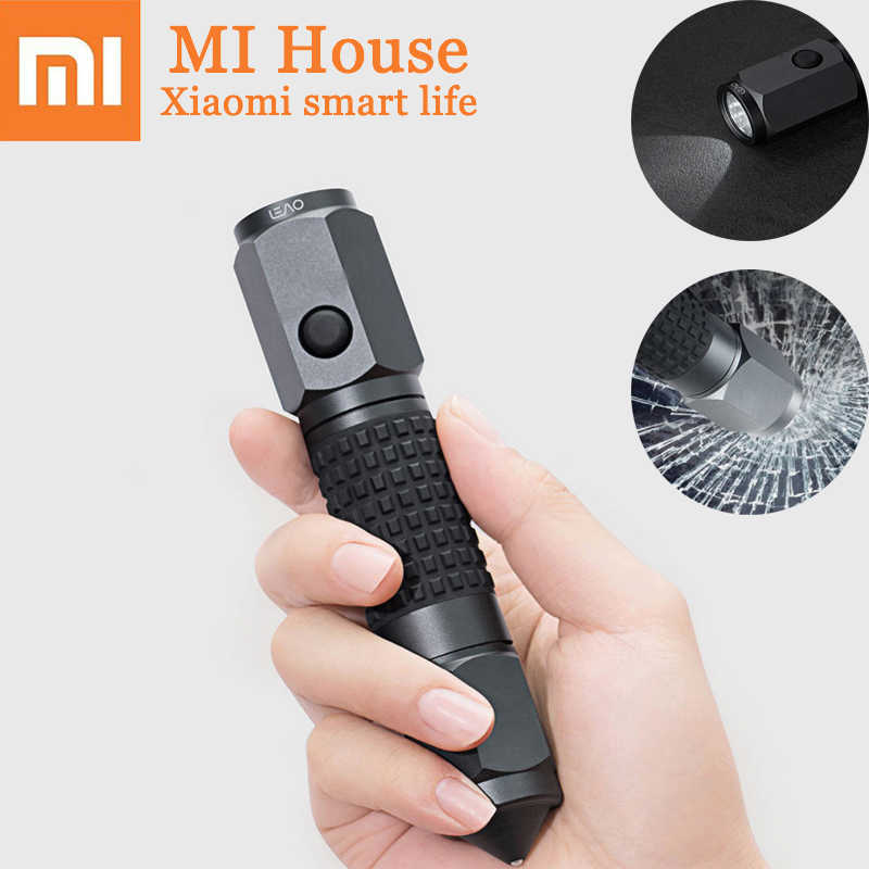 Xiaomi Leao Car Safety Hammer Multi-Function Car Emergency Tools Electric Torch  Seat Belt Cutter Outdoor Waterproof Life Saving