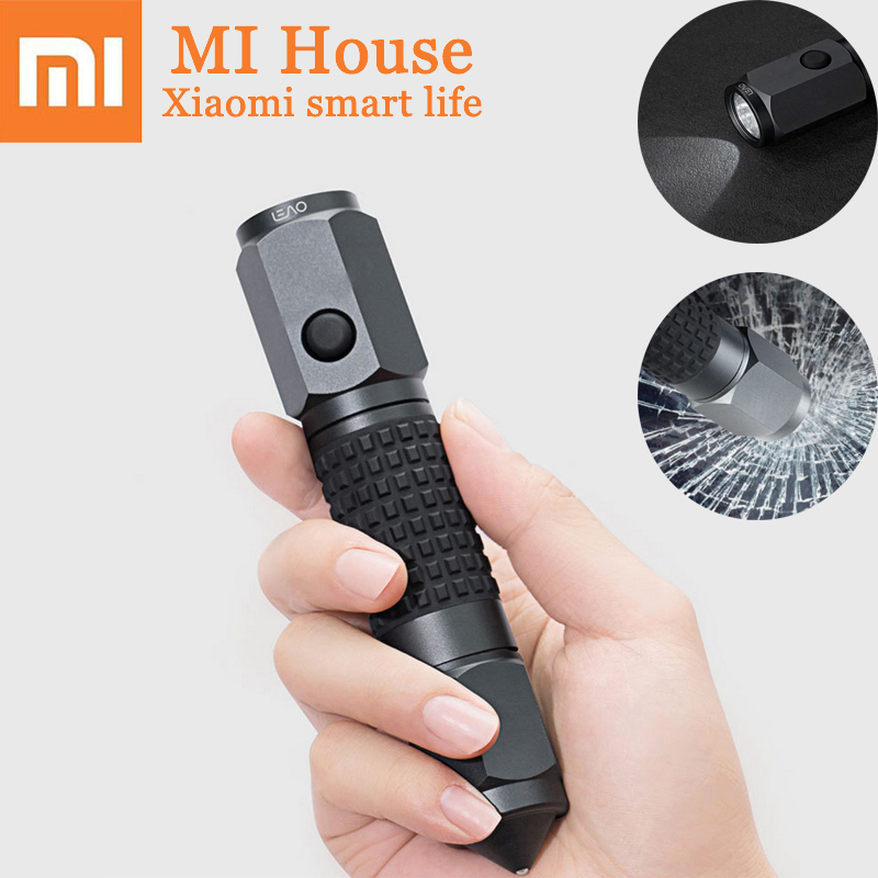 Xiaomi Leao Car Safety Hammer Multi-Function Car Emergency Tools Electric Torch Seat Belt Cutter Outdoor Waterproof Life Saving 2 in 1 car safety hammer seat belt cutter emergency hammer bracket