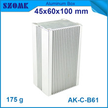 4pcs/lot best selling szomk aluminum amplifiers enclosure for controller with heatsink 45*60*100mm