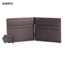 Echtes Leder geld-clip hohe qualität clip für geld neue stil Brieftasche Clamp für geld mode clip brieftasche neue Männer brieftaschen