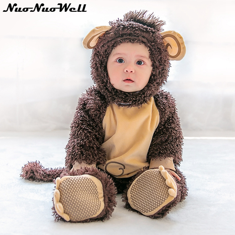 10 Styles Baby Costume Winter Hooded Romper 2018 New Thick Cute Romper Infants Boys Girls Jumpsuit Toddler Newborn Baby Clothing hhtu 2017 infant romper baby boys girls jumpsuit newborn clothing hooded toddler baby clothes cute elk romper baby costumes