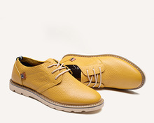 Новый Европейский Стиль мужская Натуральная Кожа Повседневная Оксфорды Зашнуровать туфли Мокасины Вождение Лодка Обувь