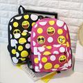 DLKLUO Emoji Pretty Style Women Canvas Backpacks Emoji Face Printing School Bag For Teenagers Girls sac a dos Mochila Feminina