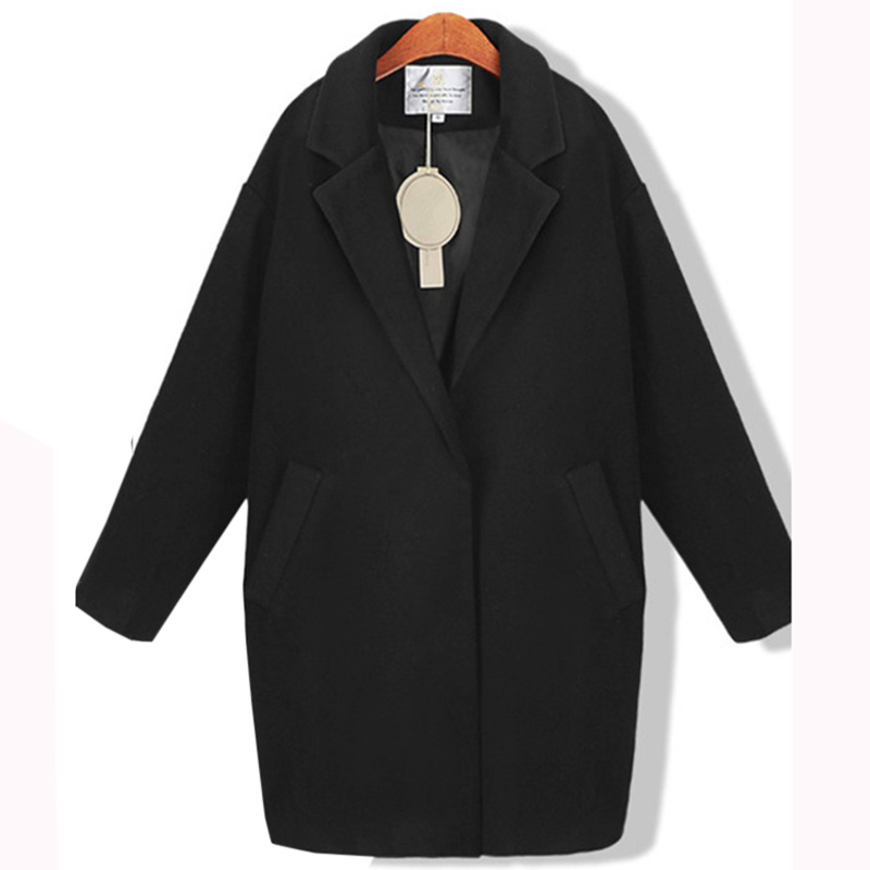 2017New Autumn and winter women long wool coat winter high quality Winter Jackets and Coats Elegant Warm Overcoat Female LU435