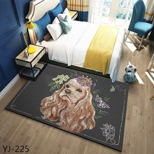 Nordic coral velvet carpet living room floor mat bedroom non-slip blanket rug bedside rectangular pad
