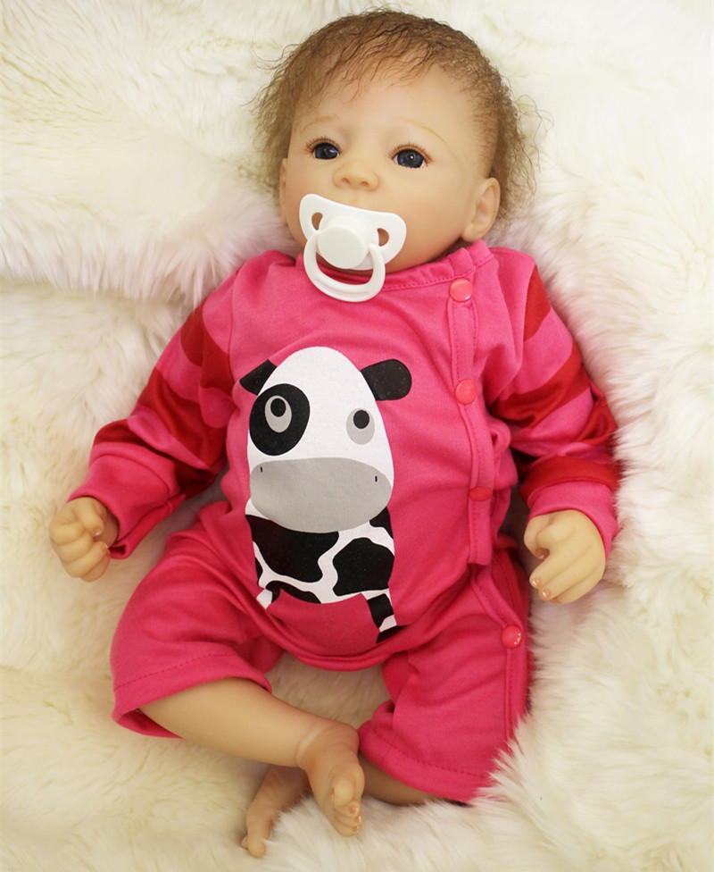 50cm Bebe Reborn Baby Vinyl Lifelike Realistic Doll Reborn Babies Dolls Kids Play Toys for girls Menina De Silicone Juguetes