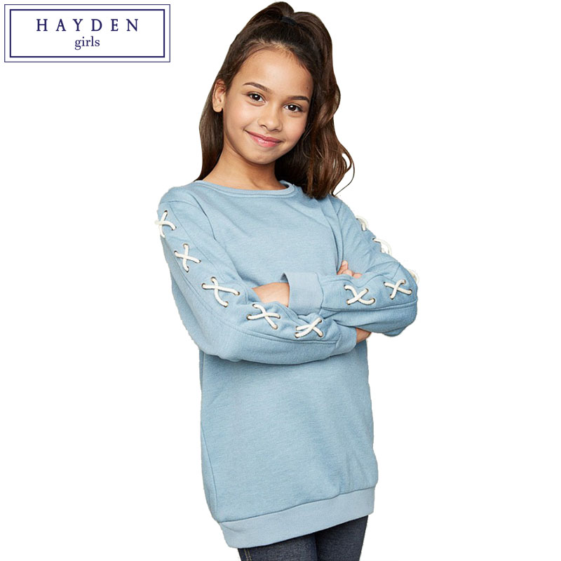 HAYDEN Girls Spring Dresses 2017 Big Teen Sweatshirts Dress for Girls Brand Clothes Girl Kids Casual Long Sleeve Mini Dress