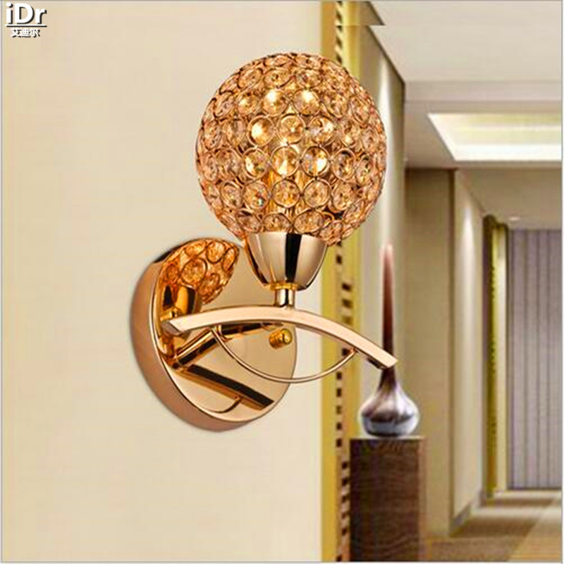 купить Stylish, modern crystal lamp bedside lamp single head lamp lighting project Wall Lamps OLU-0048 недорого