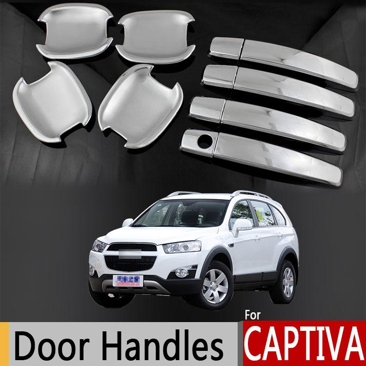 Per Chevrolet Captiva Holden Daewoo Winstorm Chrome Door Handle Covers Trim Set Chevy 2006-2016 Accessori Adesivi Per Auto-Styling
