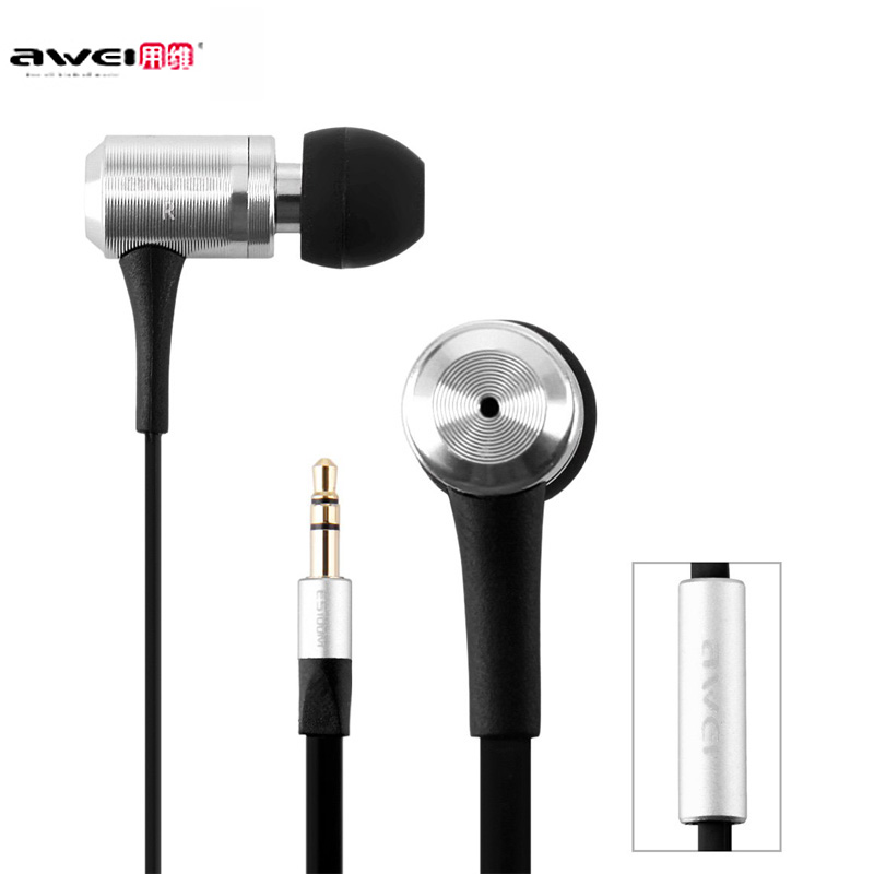 все цены на  Awei ES100M 1.2m Cable Length In-ear Stereo Earphone with Super Bass Noise isolating In-ear  for Mobile Phone Tablet PC  онлайн