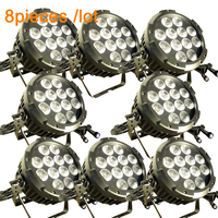 (8 pack) Led Par Light OUTDOOR PAR CAN - 12 x 15 W  RGBWA UV Colour Led Wash Light IP65 Stage Lighting