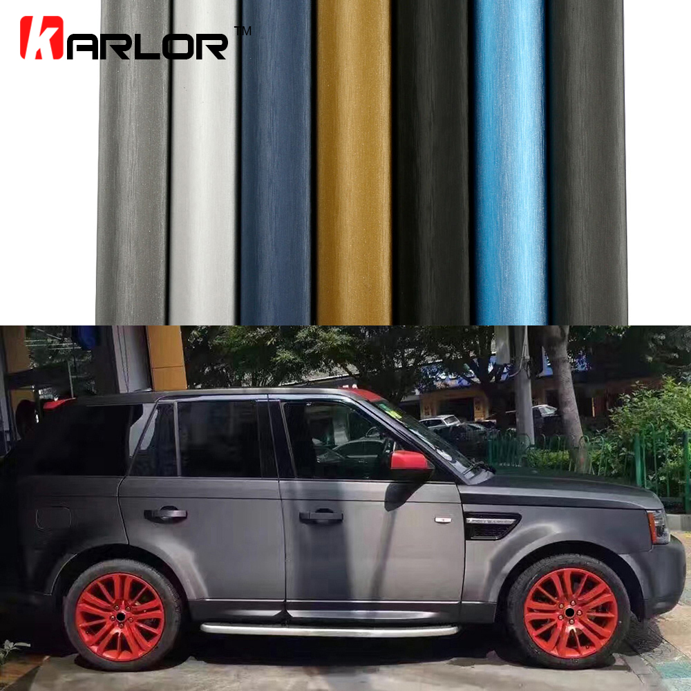 Car Styling Aluminum Brushed Vinyl Film Car Wrap Automobiles Motorcycle Scooter Computer Phone Decals Stickers Film Accessories car styling matte chrome brushed metallic vinyl film car stickers and decals automobiles car body wrapping foil air bubble free