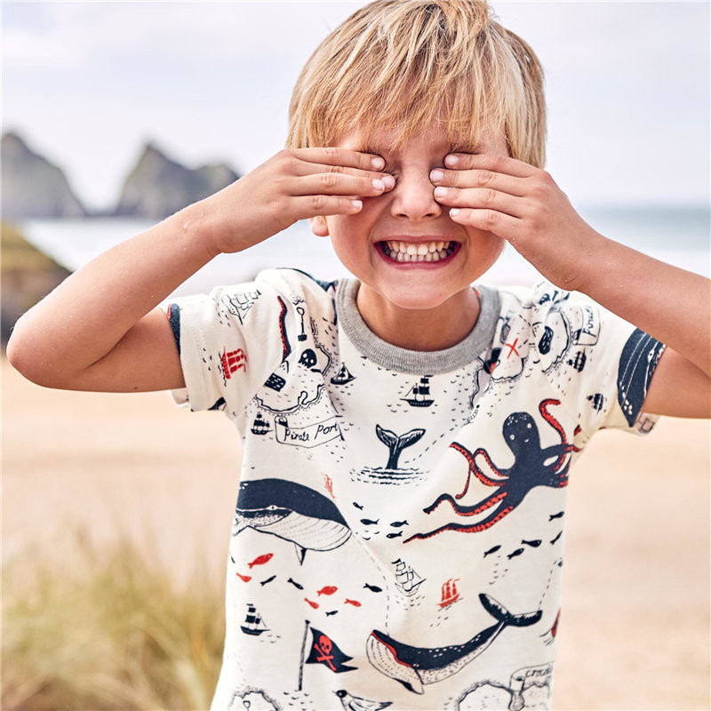 2018 New Spring Cartoon Brand Boys T Shirt Boys Kids Clothes Designer Baby Toddler Boys Short Sleeve Cotton T Shirts Tops