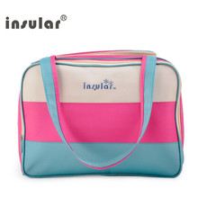 Insular Multifunctional Mummy bag Hot Sale Fashion Unique Colorful Diaper Bag Stylish Fresh Nappy Waterproof Nylon Tote