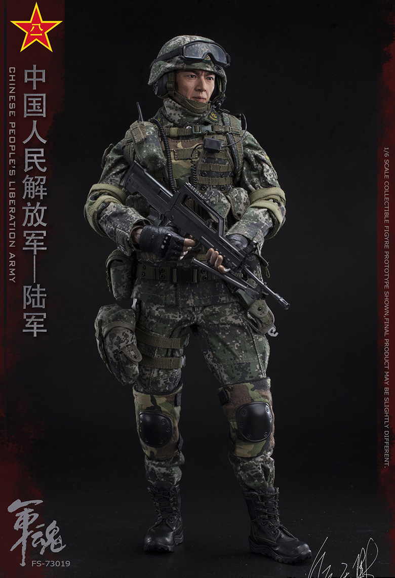 1/6 Scale Chiese People's Liberation Army Soul-Series Army Machine Gunner Military Solider Action Figure Full doll collection 9