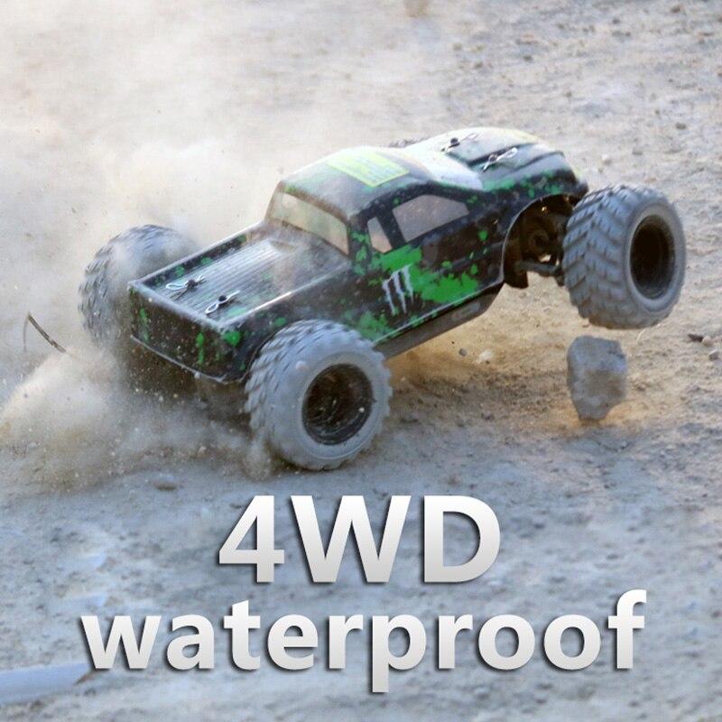 P68 étanche 2.4G 4WD haute vitesse rc voiture de course WPL 40 km/h 1:18 télécommande SUV rc chenille entraînement escalade RC jouet 18859