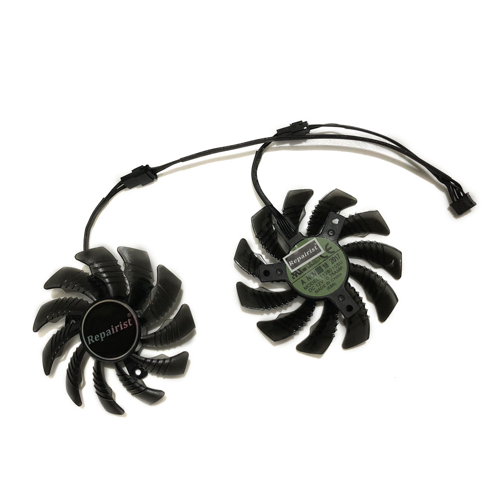 2pcs/set T128010SU GTX 1050Ti GPU Graphics Cooler Fan For GeForce GTX1050 OC 3G/2G Gigabyte GTX1050 Ti 4G Video Card Cooling image