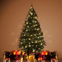 2 1M Artificial Christmas Tree Ornaments Christmas Decorations Decorated Holiday Related Products Xmas Tree 800 Tips
