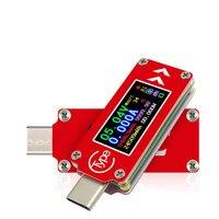 Tc64 type-c usb 테스터 lcd 디지털 전압 전류 미터 전압계 앰프 전압 전류계 검출기 전원 은행 충전기 표시기 20%