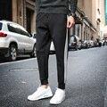 Nova Moda Plus Size Calças Dos Homens Fit Algodão Sweatpants jogger calças estilo verão Calças Calças Grossas dos homens M ~ 5XL Frete Grátis