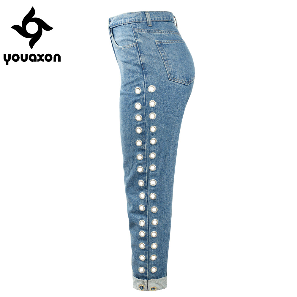 Youaxon Boyfriend High Waist Jeans With Jeans For Women