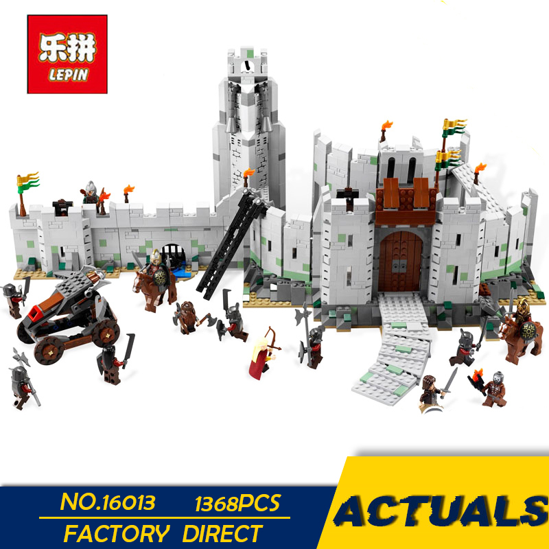 LEPIN 16013 1368Pcs The Lord of the Rings Series The Battle Of Helm' Deep Model Building Blocks Bricks Toys Compatible 9474 гобелен 180х145 printio the lord of the rings lotr властелин колец