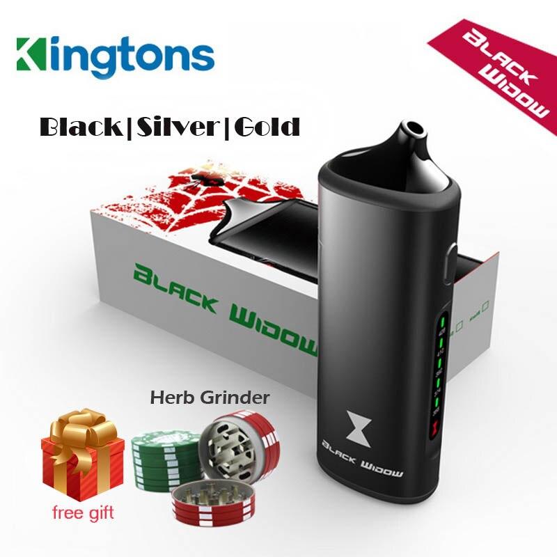 Original Black Widow dry herb mod box kit Kingtons 2200mah herbal vaporizer vape pen e cig cigarette nokiva black widow