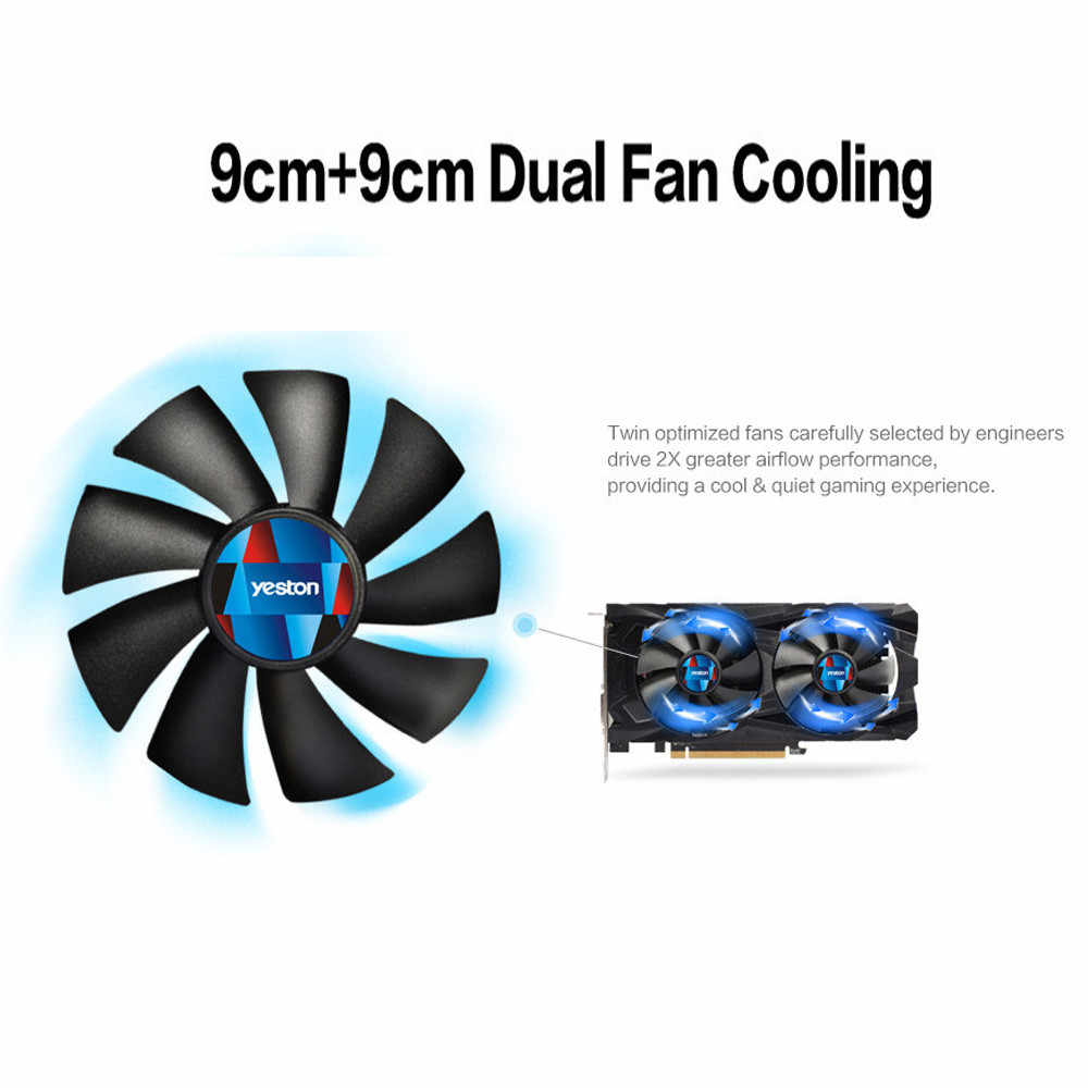 Deon RX 550 GPU 4GB GDDR5 128bit Gaming Escritorio PC tarjetas gráficas de vídeo compatible con DVI/HDMI