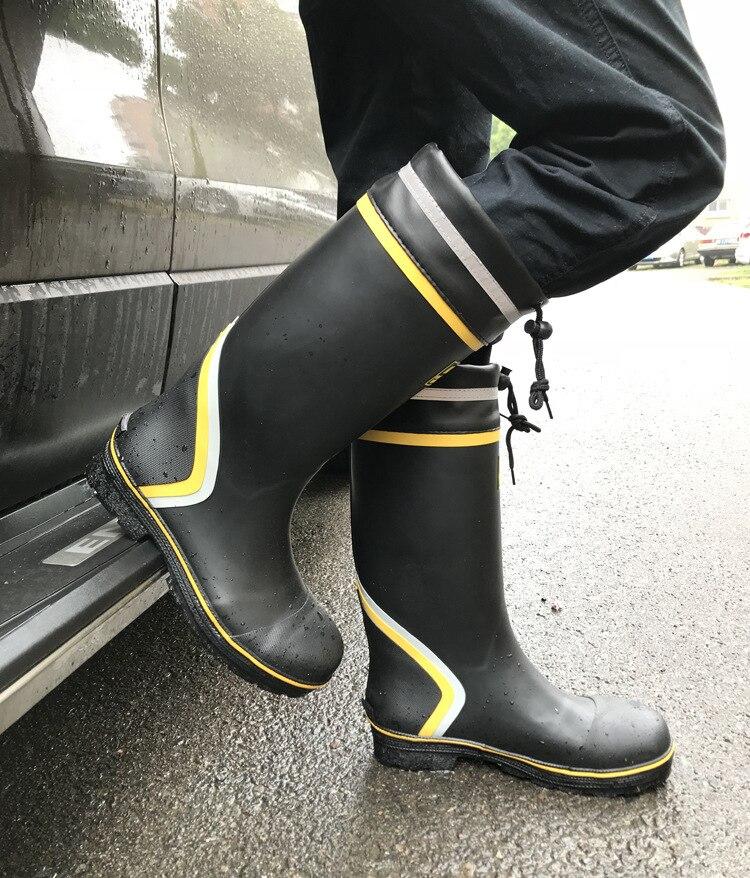 Fishing waterproof boots steel anti-sliding anti-smashing rain farm miners protection high tube rubber water shoes equipment