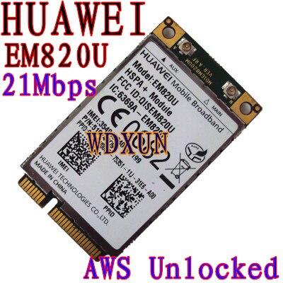 Desbloqueado HuaWei EM820U 3G WCDMA GSM WWAN Tarjeta HSPA + 21Mb - Equipo de red
