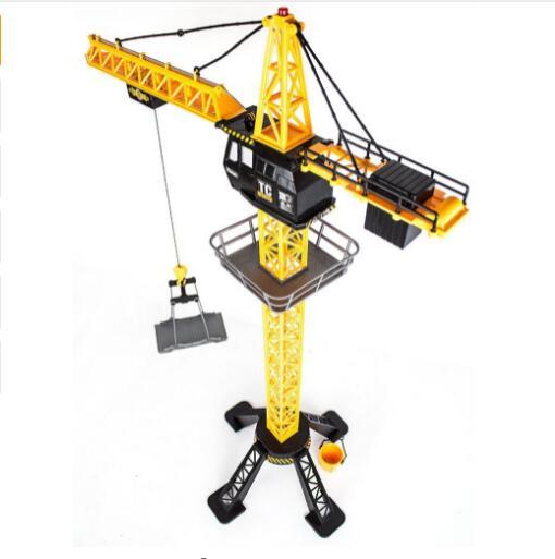 Tour de grue télécommandée de grue de RC 88 CM grue à tour de Simulation de 6 canaux 360 degrés tournent des jouets de construction d'ingénieur de grue
