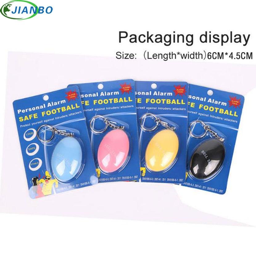 4color Self Defense Alarm 120DB Egg Shape Girl Women Security Protect Alert Personal Safety Scream Loud Keychain Emergency Alarm