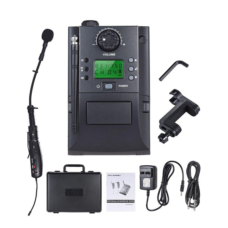 수신 및 송신기가있는 휴대용 UHF 계측기 무선 마이크 시스템 Volin 용 32 채널