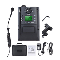 Portable UHF Instrument Wireless Microphone System with Receiver & Transmitter 32 Channels for Volin