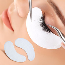 Professional 5 Pairs/Lot Lint Free Under Eye Gel Pad Patches For DIY False Eyelash Extensions Makeup