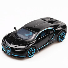 1:32 Diecast Car Model Metal Bugatti Chiron Alloy car Simulation Racing Model Sound Light Door Pull Back Car Toy For Kids Gift high simulation 1957 chevrolet bel air car model 1 32 alloy pull back retro cars diecast metal toy model free shipping
