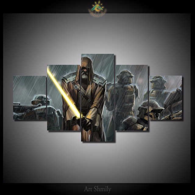 Star Wars 5 Pieces/set HD Printed Canvas