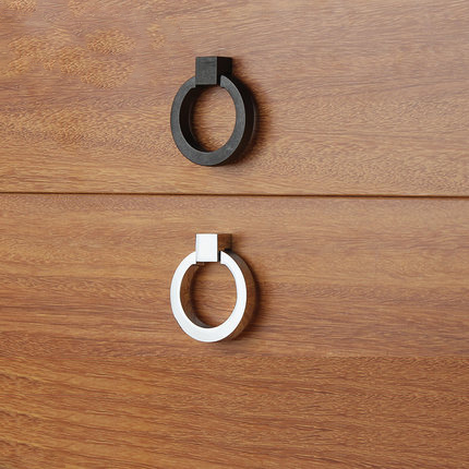 Black drawer handle wardrobe cupboard door handle modern minimalist cabinet hole pull ring handle gold цена