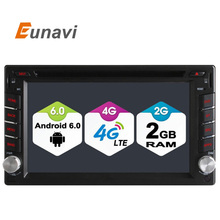 Eunavi Universal 2 Din Android 6.0 Car DVD Multimedia System Stereo Radio Head Unit Support 4G SIM Card DAB+ TPMS TV Box