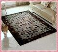 $ Number pies x $ number pies de Lujo de cuero de Vaca salón de alfombra alfombra del dormitorio alfombra de cuero de piel de vaca de alta de cuero