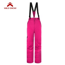 WILD SNOW Women Ski Pants Windproof Waterproof Outdoor Sport Wear female Camping Riding Skiing Warm Snowboard Ski set недорого