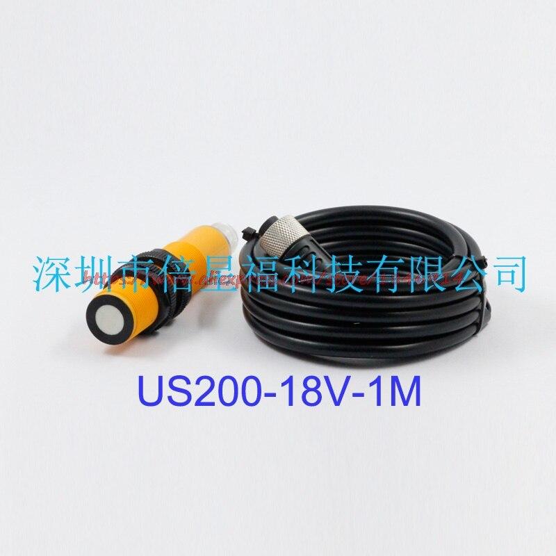 Livraison gratuite kit de mesure de distance à ultrasons US200-18V-1M signal analogique numérique, NPN, capteur à ultrasons de sortie