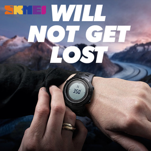Image 3 - SKMEI Compass Hodinky Men Clock Sports Watches World Time Watch Countdown Chrono Waterproof Digital Wristwatch Relogio Masculino