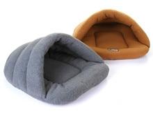 ФОТО pet cat bed small dog puppy kennel sofa polar fleece material bed pet mat cat house cat sleeping bag warm nest high quality